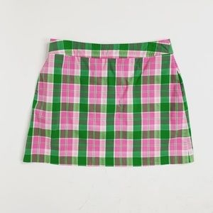 Lilly Pulitzer Plaid Mini Skirt